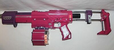 Custom Painted Alpha Trooper Cs-18 Nerf Gun With Darts Bullets - Pink For Girl