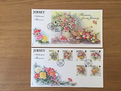 Jersey First Day Cover FDC - 1998 - Autumn Flowers