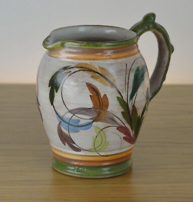 Vintage 1960 Denby Hand Painted Pottery Signed Glyn Colledge Jug Pitcher Ware
