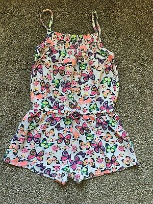 Age 2-3 Girls Summer Butterfly Playsuit From Primark
