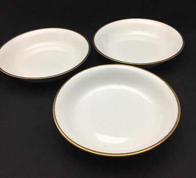 Empress Gold Band by Homer Laughlin Coupe Soup Bowls (set of 3) - Antique China