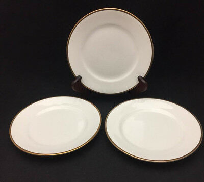 Empress Gold Band by Homer Laughlin Salad Plates (set of 3) - Antique China