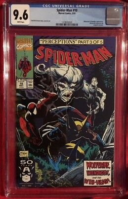 SPIDER-MAN #10 CGC 9.6 NM+ Near Mint McFarlane 1991 WOLVERINE Original Costume