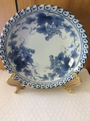 Antique Japanese  Porcelain Blue And White Plate 18 Ct?