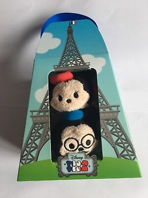 Disney Tsum Tsum ~ Mickey and Minnie Mouse Paris City Set ~ New In Box