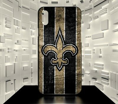 Custodia rigida per iPhone X New Orleans Saints NFL Team 04