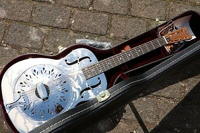 NEU Continental CS0 Single Cone Resonator Gitarre Maple Neck mit Koffer Palmen