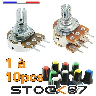 potentiometer linear B  1 - 2.2 - 5 - 10  - 22  - 50 - 100 - 220 - 500 K ohms