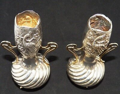 Stunning Antique 925 Sterling Silver Vases, Greek / Russian / Chinese import?