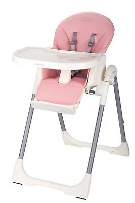 Upgraded brand new leather baby high chair - pink