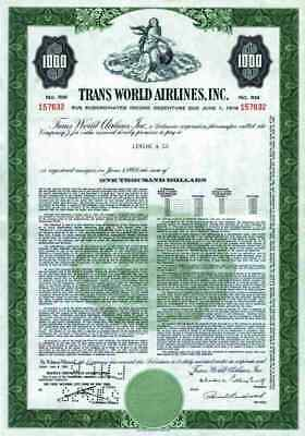 Trans World Airlines 1961 TWA Hughes St. Louis Missouri 1000 $ PanAm Air Green