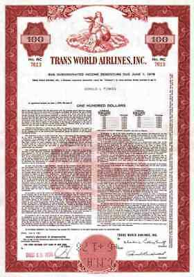 Trans World Airlines Inc. 1961 TWA Hughes St. Louis Missouri 100 $ PanAm Air Red