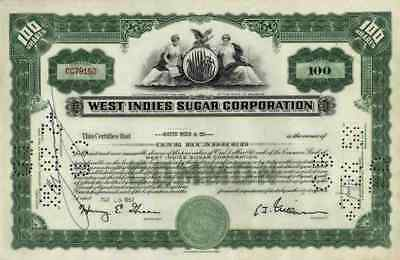 West Indies Sugar Corp 1957 Homestead Florida Dominikanische Republik 100 Shares