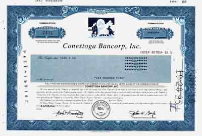 Conestoga Bancorp Inc. 1995 Delaware Pioneer Savings Bank FSB Chicago Sparkasse