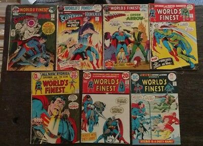World's Finest 7 Comic Lot 202 209 210 212 213 217 231 Superman  Batman  DC