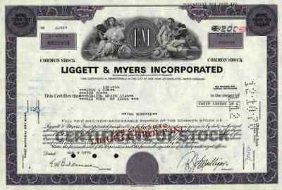 LIGGETT MYERS 1976 Tobacco Belleville Bennett LeBow L & M more than 100 shares