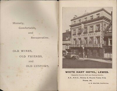 White Hart Hotel, Lewes. 1928 Rare Illustrated  Booklet   B5.292