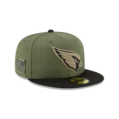 New Era NFL ARIZONA CARDINALS Salute to Service 2018 Sideline 59FIFTY Game Cap N