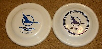 North Central + Republic  AIRLINES HERMAN THE DUCK LOGO  Wham-O-Frisbees