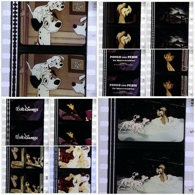 Selten * 101 Dalmatiner * 35mm Film Cells Streifen Movie Strip Walt Disney