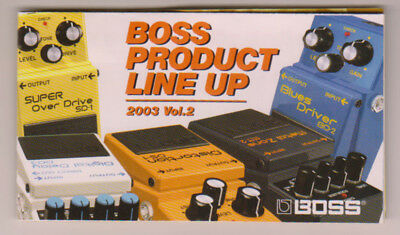 Boss Product Line Up 2003 Vol 2