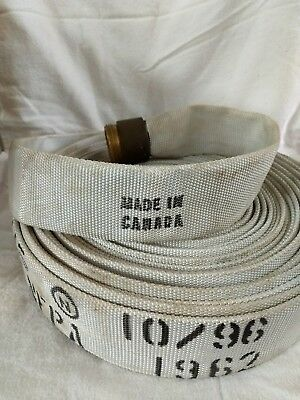 Vintage Fire Hose With Brass American La FRANCE Corp Fitting