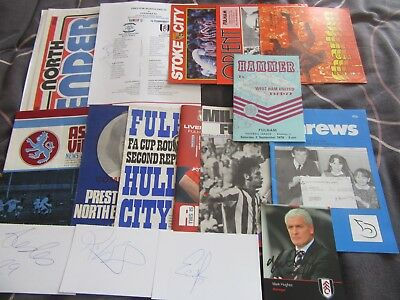 Fulham programmes and autographs