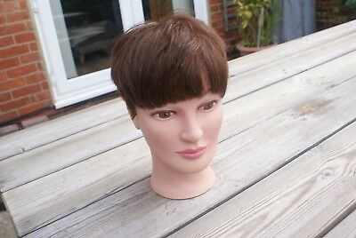 Model Head Perfect Halloween Project or Hair Model, TIGI Hairdressers Dummy