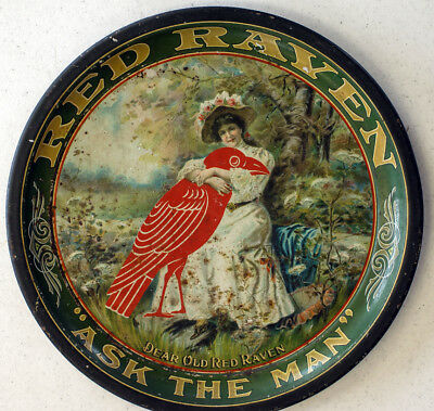 """Red Raven """"Ask The Man"""" 12 inch tray Great color"""