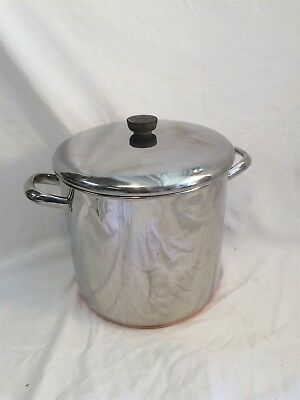 Revere Ware 12 qt Stock Pot 1801 Copper Clad Stainless Steel 90f Clinton