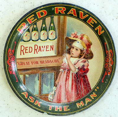 """Red Raven """"Great for Headache"""" 4 1/4 inch tip-- tray Great condition"""