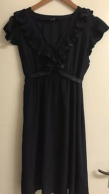 Mothercare Navy Maternity Party Dress - Size 16