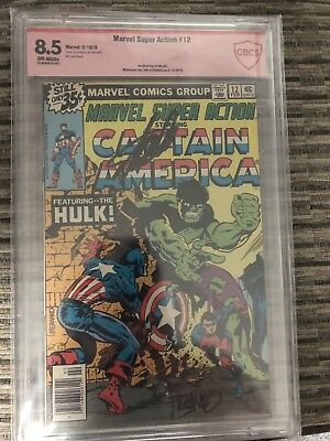 Marvel Super Action 12 Signed By Stan Lee and Jim Steranko