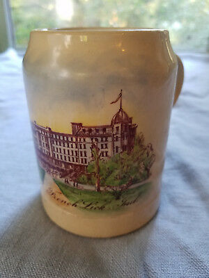 French Lick Springs Hotel vintage mug cup Indiana