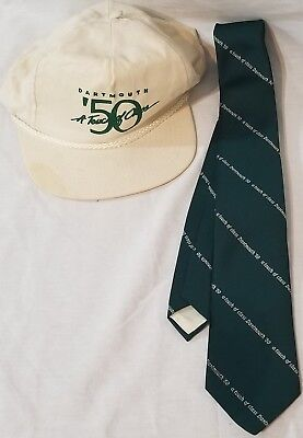 Vintage Dartmouth A Touch of Class 1950 Hat & Tie