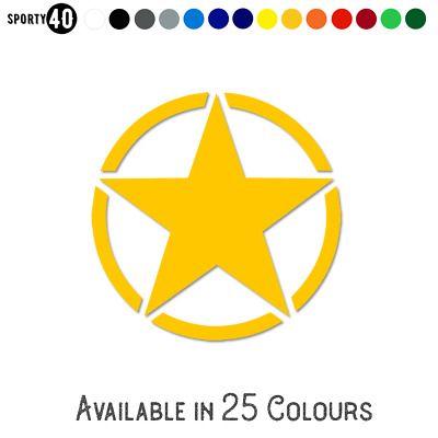 Military Star - Smooth - Sticker / Vinyl Decal - All Colours & Sizes