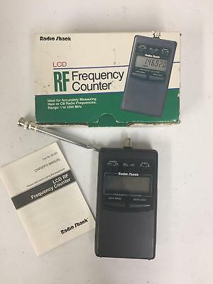 Radio Shack 22-305 LCD RF Frequency Counter Black Vintage Electronic