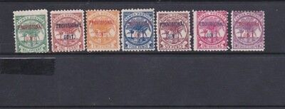Early Samoa Over-printed Provisional Govt M/Mint Stamps