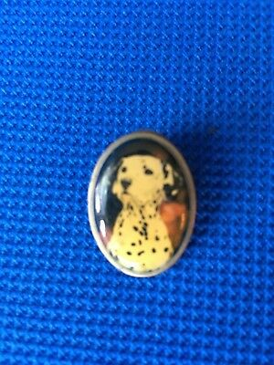 Vintage DALMATIAN DOG Pin / Tie Tack ~  Marked Otter House England