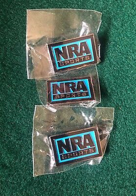 Lot of 3 NRA Sports Lapel Pins - New