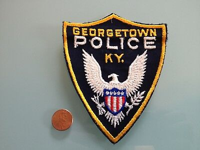 Vintage GEORGETOWN Kentucky POLICE PATCH unused RARE sew on