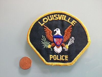 Vintage LOUISVILLE Kentucky ? POLICE PATCH unused RARE sew on