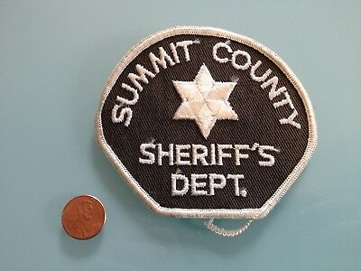 Vintage SUMMIT COUNTY Colorado SHERIFF'S DEPT. PATCH unused RARE sew on