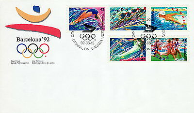 Canada #1414-1418 42¢ Summer Olympics First Day Cover