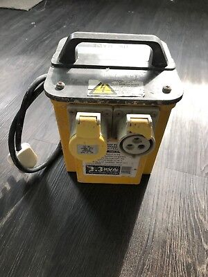 110V POWERTOOL TRANSFORMER WITH 2 x 16AMP OUTLETS