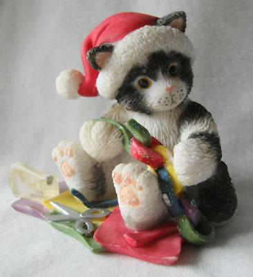 """Enesco Calico Kittens """"Linked With Love"""" 2003"""