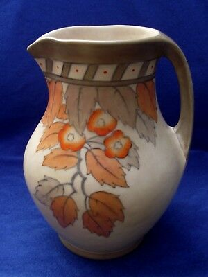 1930's Art Deco, Crown Ducal Charlotte Rhead 'Golden Leaves' Jug Shape 244 #4921
