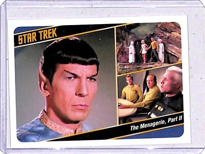 2018 Star Trek The Original Series Captain's case card 17a