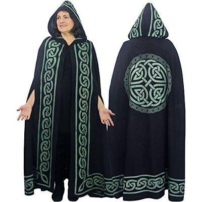 The New Age Source Ritual Cotton Cloak Celtic Knot Green