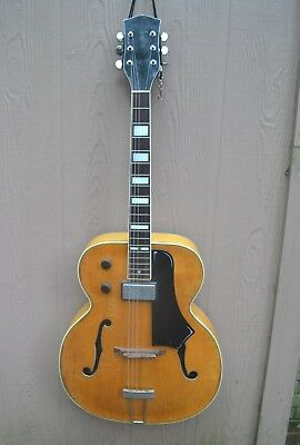 """Vintage National 17"""" California Archtop Electric Guitar With  Pickup Clean 1956"""
